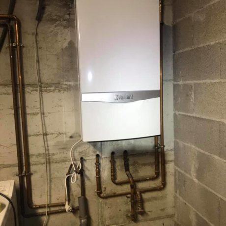 Aujourd'hui remplacement d'une chaudière murale gaz classique par une chaudière à condensation sur Guewenheim