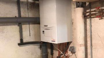 Installation d'une chaudière à condensation à