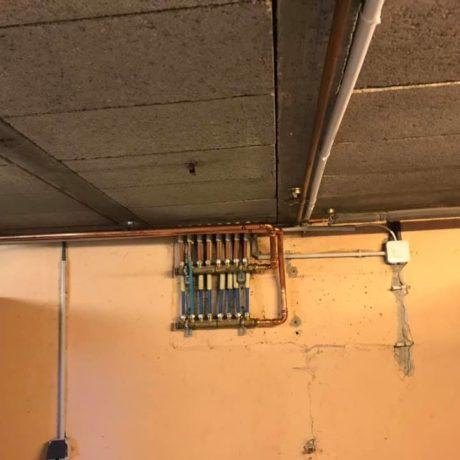 Remplacement d'une chaudière à gaz raccordée à une cheminée par une chaudière à gaz ventouse dernière génération sur la commune de Bergholtz
