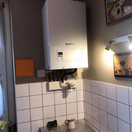 Pose d'une chaudière à condensation par Kieffer Energie Staffelfelden près de Wittelsheim