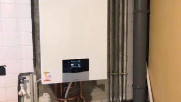 Installation d'une chaudière à condensation Vaillant sur Mulhouse